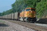BNSF 8866 works a loaded coal train eastbound at the Water-Works